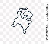 netherlands map vector outline... | Shutterstock .eps vector #1223289817