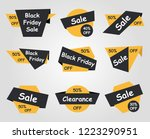 black friday sale labels  ... | Shutterstock .eps vector #1223290951