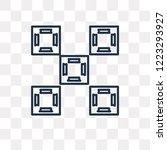 tile vector outline icon...   Shutterstock .eps vector #1223293927