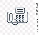 fax vector outline icon... | Shutterstock .eps vector #1223298607