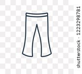flare pants vector outline icon ... | Shutterstock .eps vector #1223298781