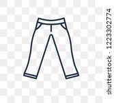 chinos pants vector outline... | Shutterstock .eps vector #1223302774