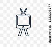 television with antenna vector... | Shutterstock .eps vector #1223308177