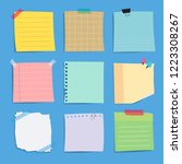 colorful reminder paper notes... | Shutterstock .eps vector #1223308267