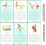 chocolate body spa and tanning... | Shutterstock .eps vector #1223310781
