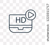 hd video vector outline icon... | Shutterstock .eps vector #1223311717