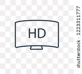 hd vector outline icon isolated ... | Shutterstock .eps vector #1223311777