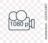 1080p full hd vector outline... | Shutterstock .eps vector #1223311807