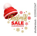 christmas sale clearance ... | Shutterstock .eps vector #1223312167