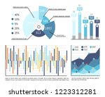 pie diagram with parts and... | Shutterstock .eps vector #1223312281