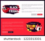 black friday sale off promo... | Shutterstock .eps vector #1223313331