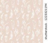 feather seamless pattern hand...   Shutterstock .eps vector #1223321194