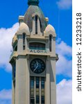 Aloha Tower In Hawaii  Close Up