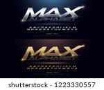 elegant sport silver and golden ... | Shutterstock .eps vector #1223330557