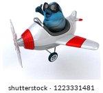 blue bird   3d illustration | Shutterstock . vector #1223331481