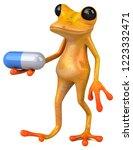 fun yellow frog   3d... | Shutterstock . vector #1223332471