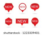 new label sticker set  vector... | Shutterstock .eps vector #1223339401