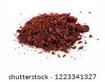 heap of ground sumac spice.... | Shutterstock . vector #1223341327