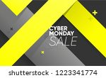 cyber monday sale banner with... | Shutterstock .eps vector #1223341774