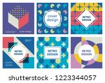vector trendy abstract geometry ... | Shutterstock .eps vector #1223344057