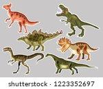 t rex   tyrannosaur ... | Shutterstock .eps vector #1223352697