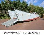 landing craft from world war... | Shutterstock . vector #1223358421