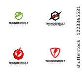 thunderbolt logo design | Shutterstock .eps vector #1223365531