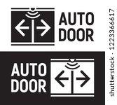 automatic sliding doors. vector ... | Shutterstock .eps vector #1223366617