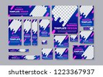 set of vector web banners with... | Shutterstock .eps vector #1223367937