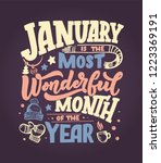 january inspirational quote.... | Shutterstock .eps vector #1223369191