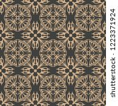 vector damask seamless retro... | Shutterstock .eps vector #1223371924