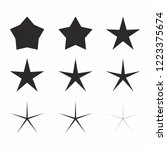 star icon set vector.christmas... | Shutterstock .eps vector #1223375674