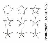 star icon set vector.christmas... | Shutterstock .eps vector #1223375677