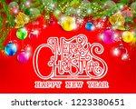 merry christmas everyone... | Shutterstock .eps vector #1223380651