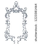 baroque inspired ornate frame.... | Shutterstock .eps vector #1223381464