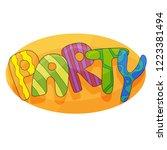 banner for kids party in...   Shutterstock .eps vector #1223381494