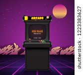 arcade machine screen  retro... | Shutterstock .eps vector #1223383627