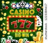 casino gambling  poker and... | Shutterstock .eps vector #1223384617