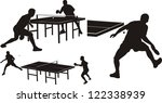 table tennis   silhouettes | Shutterstock .eps vector #122338939