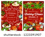 christmas holiday festive... | Shutterstock .eps vector #1223391907