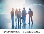 silhouettes of diverse business ... | Shutterstock . vector #1223392267