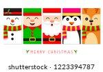 cute snowman  christmas elf ... | Shutterstock .eps vector #1223394787