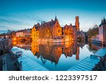 classic postcard view of the... | Shutterstock . vector #1223397517