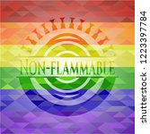 non flammable on mosaic... | Shutterstock .eps vector #1223397784