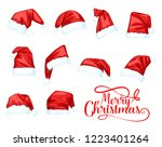 santa claus hat  merry... | Shutterstock .eps vector #1223401264