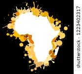 sketch blot dotty african...   Shutterstock . vector #1223402317