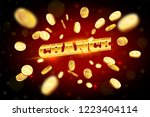the gold word chance ... | Shutterstock .eps vector #1223404114