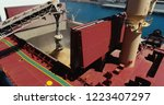 Side Angle Shot Of Ship Loadin...