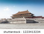 the ancient architecture is in... | Shutterstock . vector #1223413234