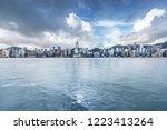 hongkong city skyline  vitoria... | Shutterstock . vector #1223413264